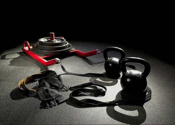 Crossfit Greeting Card featuring the photograph Equipment For The Job by Mark McElroy