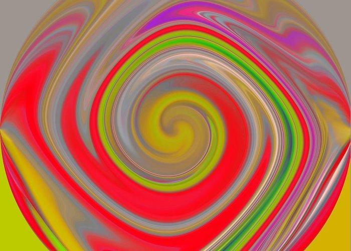 Red Greeting Card featuring the digital art Eritera by John Holfinger