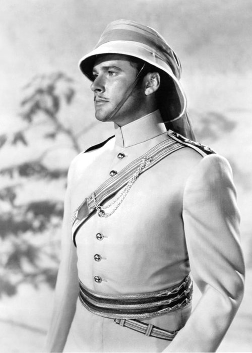 The Charge Of The Light Brigade Greeting Card featuring the photograph Errol Flynn In The Charge Of The Light Brigade by Silver Screen