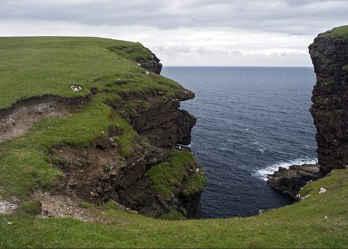 Sea Greeting Card featuring the photograph Eshaness Cliffs by Steve Watson