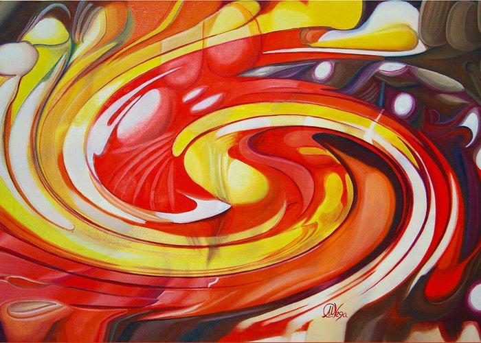 Espiral Greeting Card featuring the digital art Espiral De Colores by Miguel Angel Vega Velez