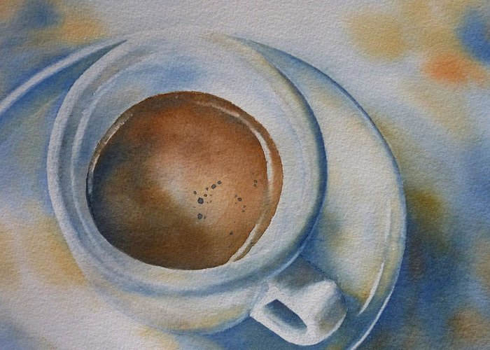 Espresso Greeting Card featuring the painting Espresso 2 by Thomas Habermann