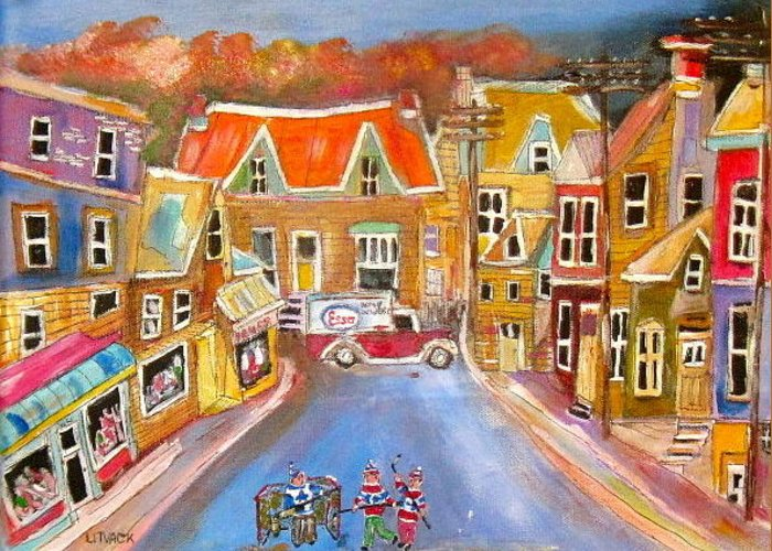 Esso Oil Greeting Card featuring the painting Esso Delivery by Michael Litvack
