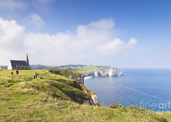 Church Greeting Card featuring the photograph Etretat by Colin and Linda McKie