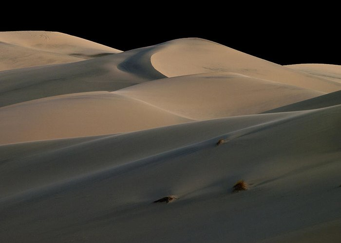 Death Valley Greeting Card featuring the photograph Eureka Dune Dreams by Joe Schofield