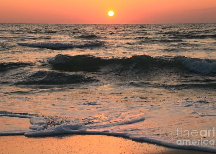 St Joseph Peninsula State Park Greeting Card featuring the photograph Evening Pastels by Adam Jewell