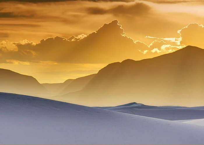 White Sands Greeting Card featuring the photograph Evening Stillness - White Sands Sunset by Nikolyn McDonald
