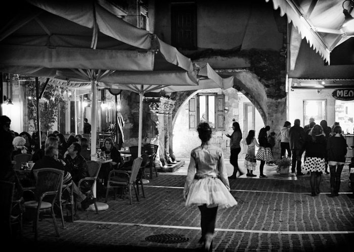 Black And White Greeting Card featuring the photograph Every Girl Is A Princess by Spyros Papaspyropoulos