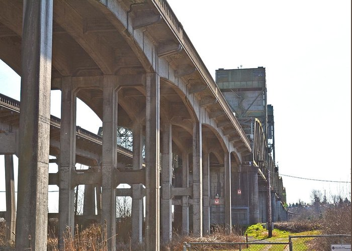 Washington State Greeting Card featuring the photograph Everysville Bridge by Tobeimean Peter