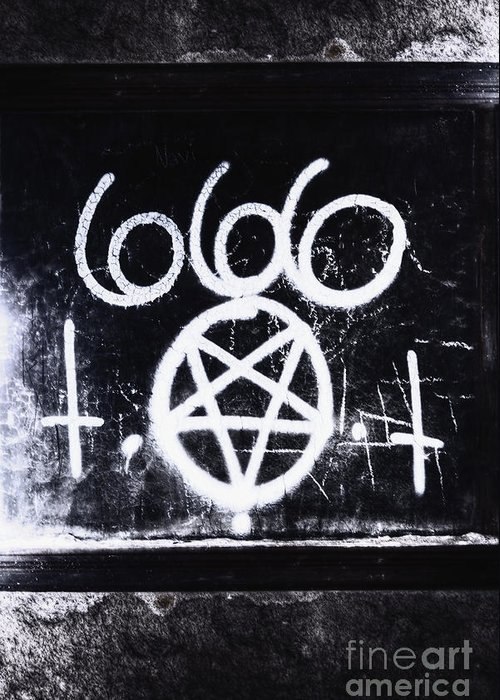 666 Greeting Card featuring the photograph Evil by Margie Hurwich