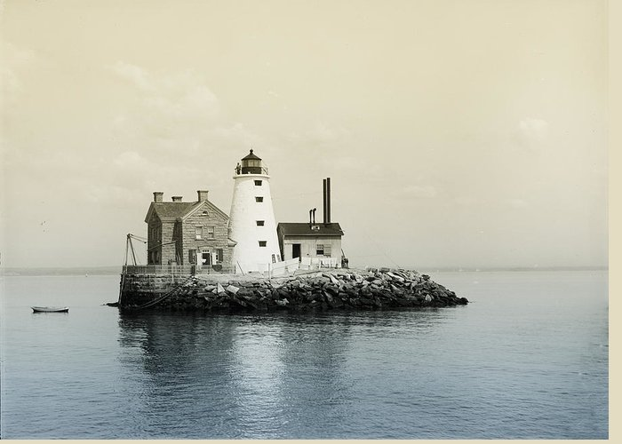 Execution Greeting Card featuring the photograph Execution Rocks Lighthouse New York by Bill Cannon