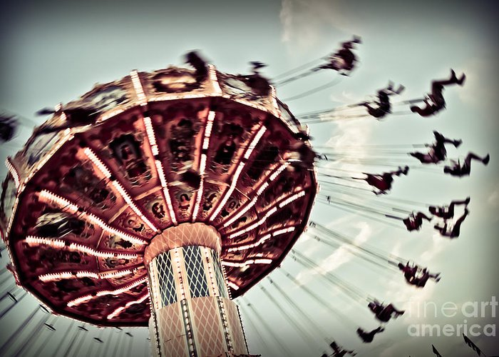 Carnival Greeting Card featuring the photograph Exhilaration by Colleen Kammerer