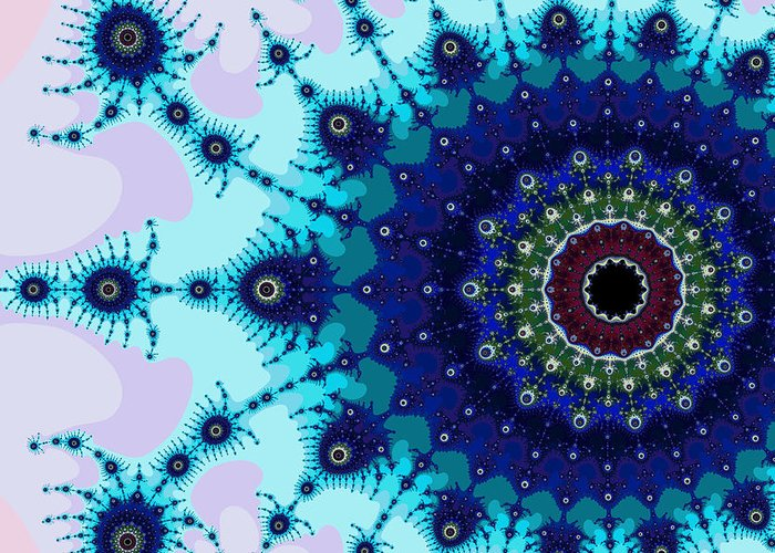 Abstract Greeting Card featuring the digital art Exiled Multibrot No. 2 by Mark Eggleston