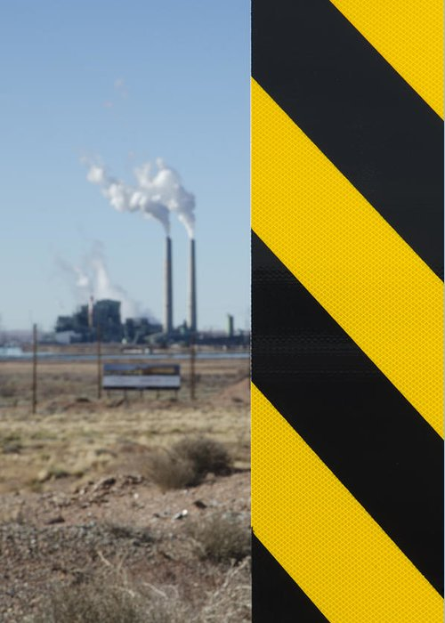 Larson Greeting Card featuring the photograph Exit 280 Cholla Power Plant by Greg Larson