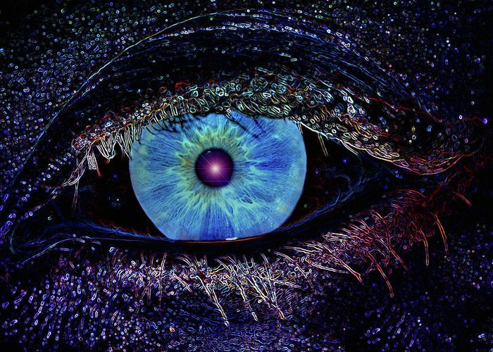 Eye Greeting Card featuring the photograph Eye In The Sky by Joann Vitali