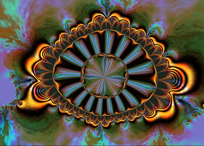 Digital Greeting Card featuring the digital art Eye Of Centauris by Claude McCoy