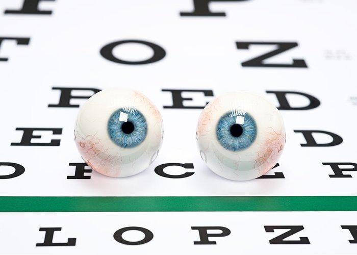 Eyeballs Greeting Card featuring the photograph Eyeballs On Chart by Joe Belanger