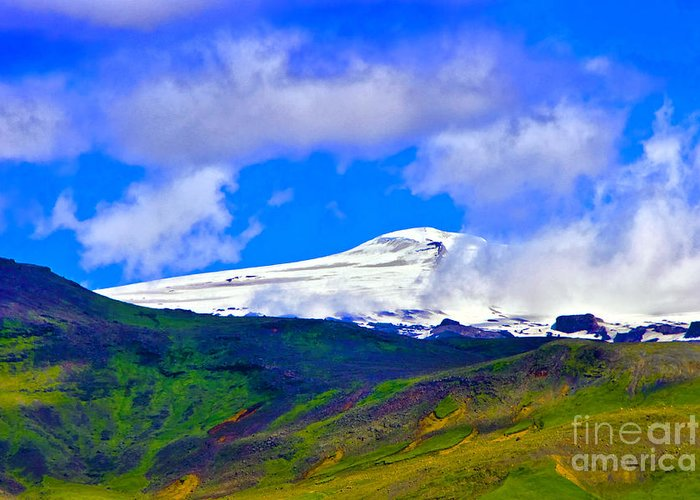 Iceland Greeting Card featuring the photograph Eyjafjallajokull by Roberta Bragan
