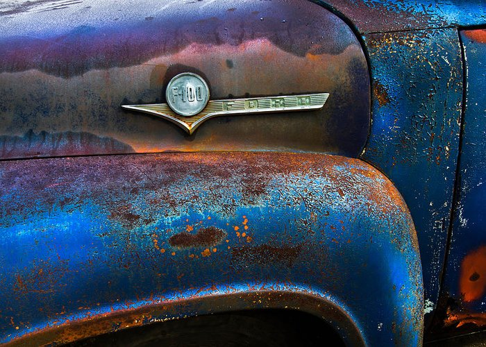 Appalachia Greeting Card featuring the photograph F-100 Ford by Debra and Dave Vanderlaan