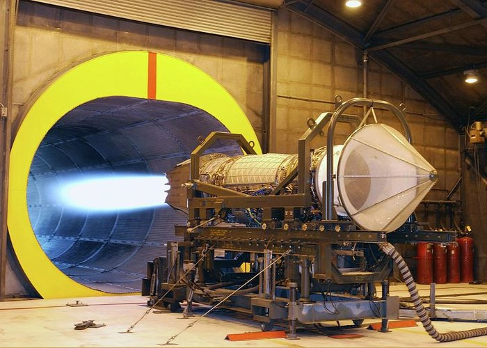 F119 Greeting Card featuring the photograph F-119 Engine During Testing by Us Air Force/science Photo Library