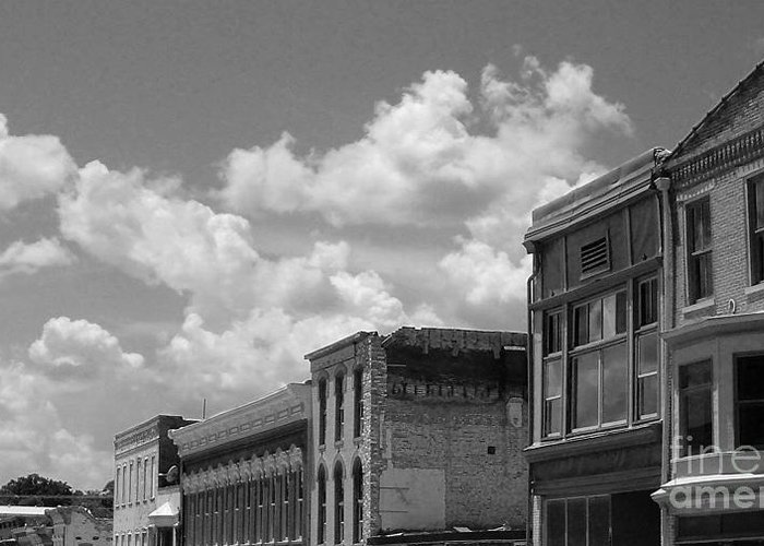 Clouds Greeting Card featuring the photograph Facade In Missouri by Sean Hughes