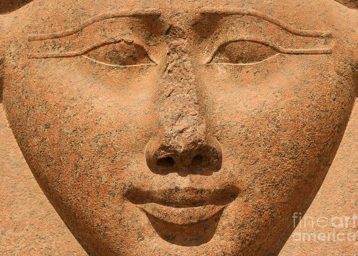 Hathor Greeting Card featuring the photograph Face Of Hathor by Stephen & Donna O'Meara