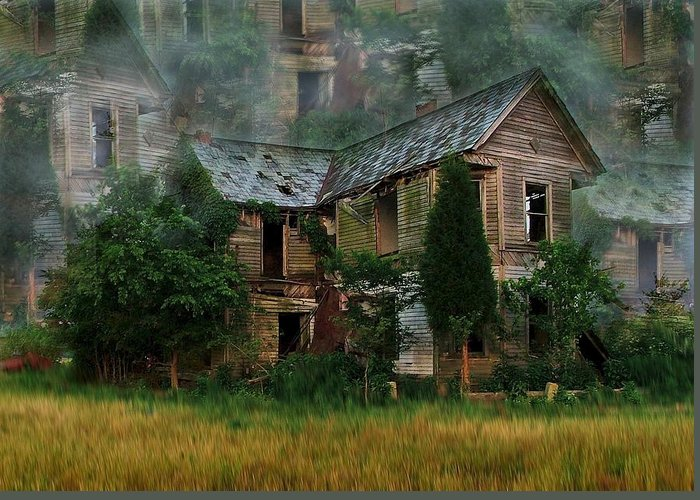 Abandoned House Greeting Card featuring the photograph Faded Dreams by Julie Dant