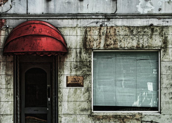 Facade Greeting Card featuring the photograph Fading Facade by Andrew Paranavitana