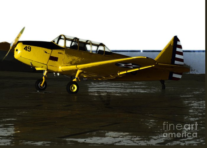 Airplanes Greeting Card featuring the photograph Fairchild Pt-26 by Steven Digman