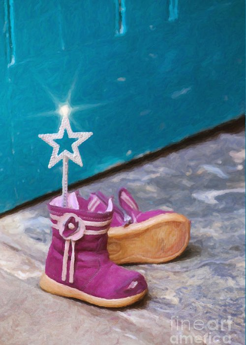 Boots Greeting Card featuring the photograph Fairy At The Door by Tim Gainey