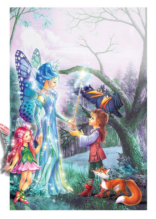 Adventure Greeting Card featuring the photograph Fairy Wand by Zorina Baldescu