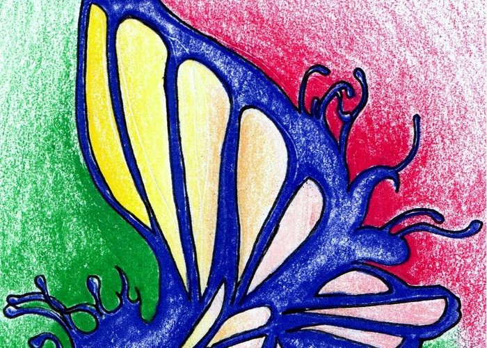 Fairy Greeting Card featuring the drawing Fairy Wing by Elaan Yefchak