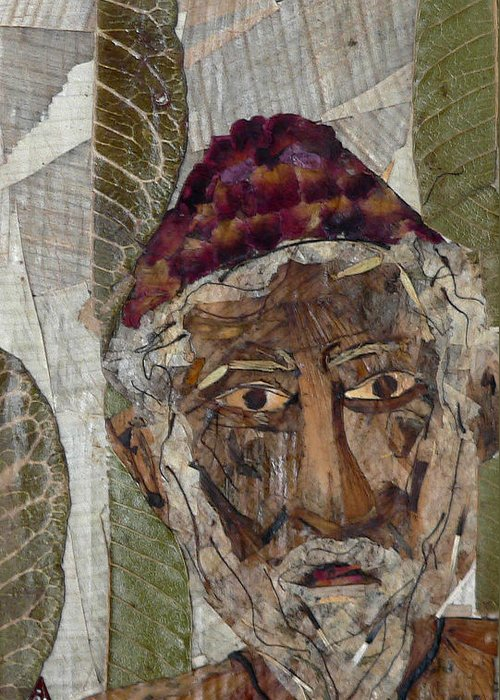Portrait.holy Person Portrait Greeting Card featuring the mixed media Fakeer by basant Soni