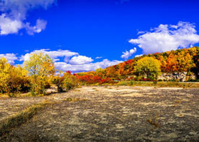 High Cliff Greeting Card featuring the photograph Fall All Around by Ever-Curious Photography
