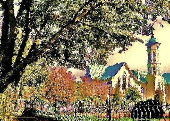 Church Art Greeting Card featuring the photograph Fall Church by Diana Chason