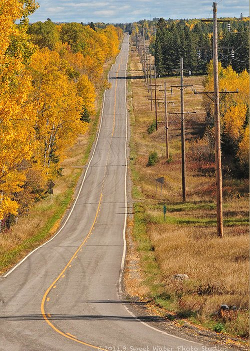 Minnesota Greeting Card featuring the photograph Fall Color Tour Mn Highway 1 2925 by Marie Fierek