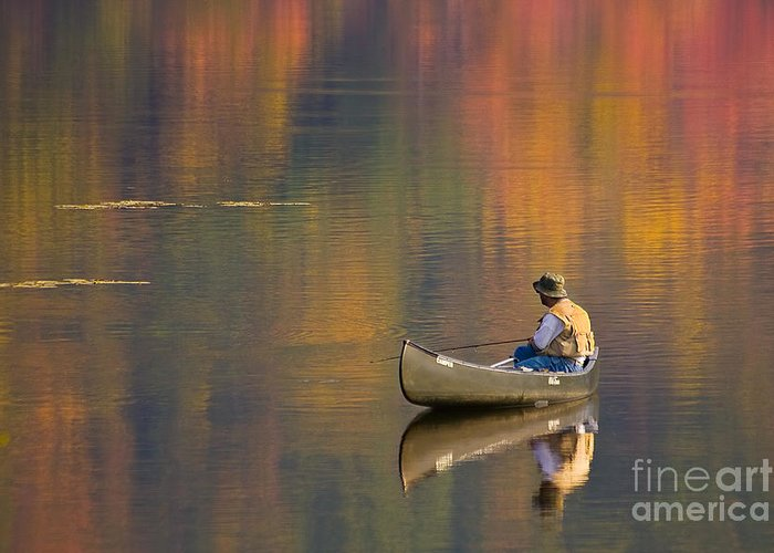 Pennsylvania Greeting Card featuring the photograph Fall Fishing by Eric Gaston