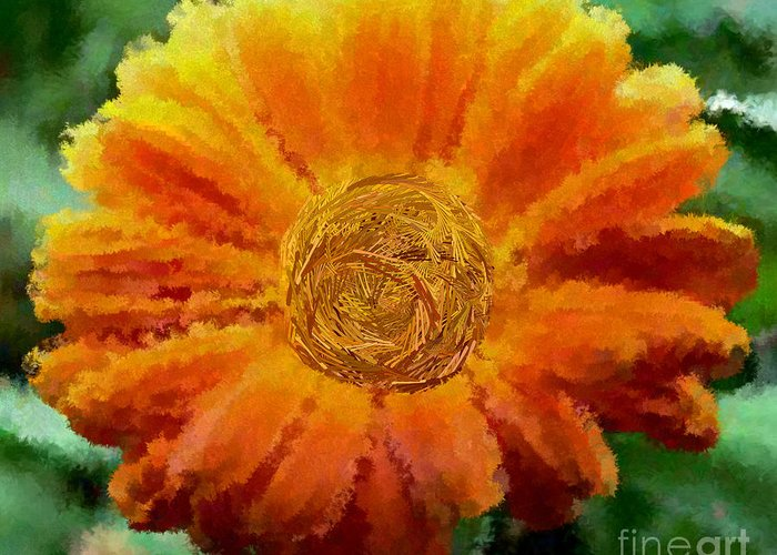 Flowers Greeting Card featuring the digital art Fall For Me by Holley Jacobs
