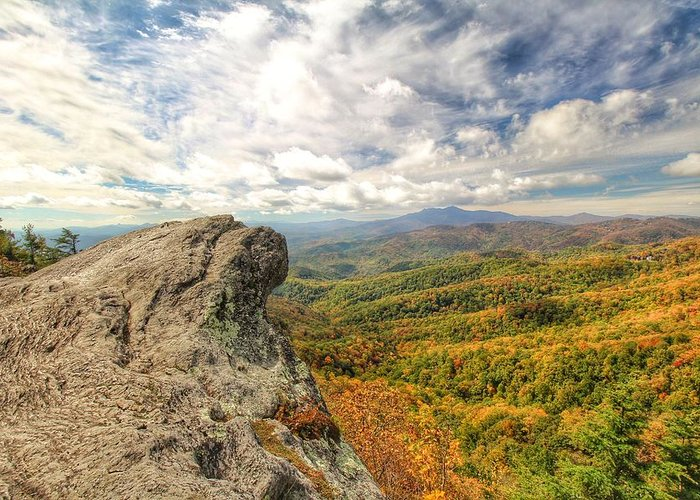Blowing Rock Greeting Card featuring the photograph Fall From The Blowing Rock by Chris Berrier