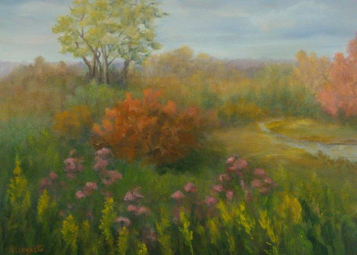Pamela Allegretto Greeting Card featuring the painting Fall In New England by Pamela Allegretto