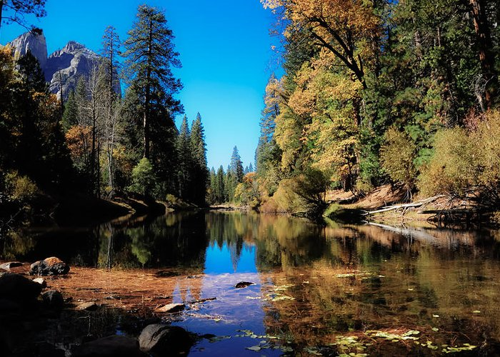 Yosemite Greeting Card featuring the photograph Fall In Yosemite by Tyler Kaufman