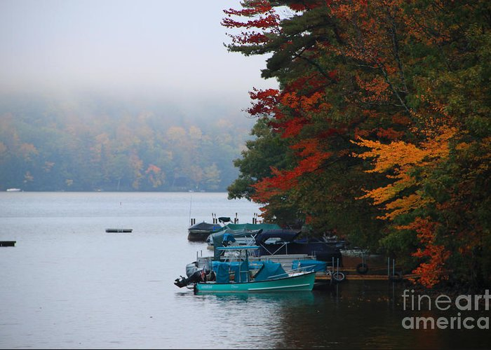 Fall Colors Greeting Card featuring the photograph Fall On Little Squam by Michael Mooney