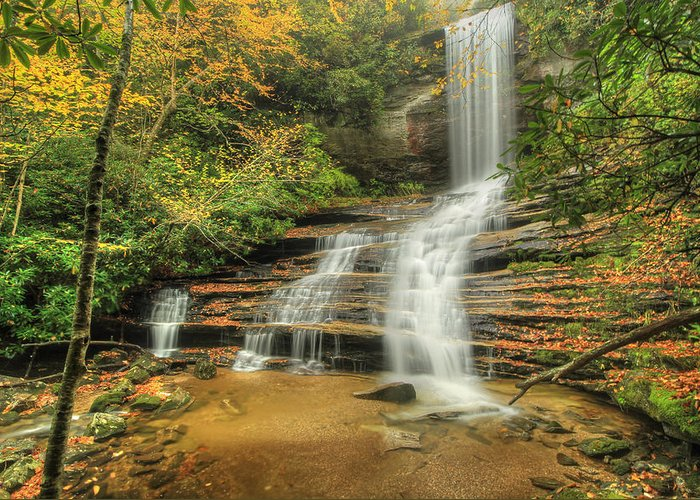 Waterfall Greeting Card featuring the photograph Fall Water by Doug McPherson
