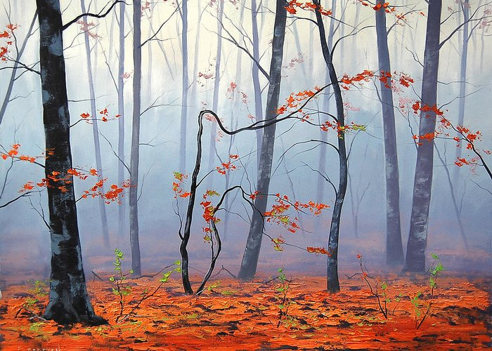 Fall Greeting Card featuring the painting Fallen Leaves by Graham Gercken