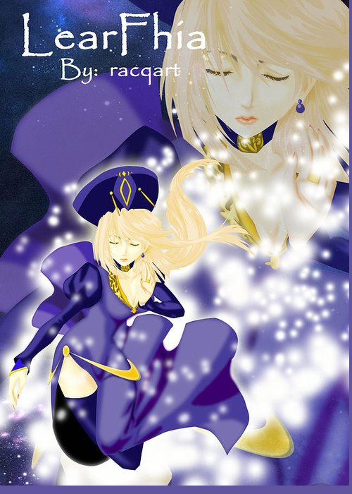 Anime Maiden Greeting Card featuring the digital art Falling Maiden by Racquel Delos Santos
