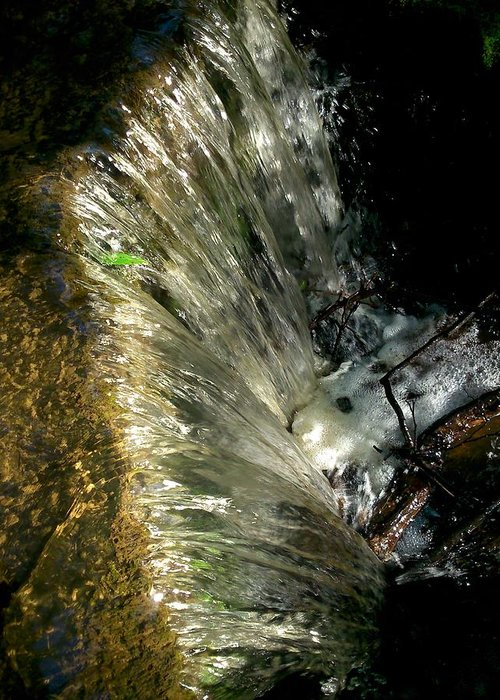 Stream Greeting Card featuring the photograph Falling Water by Phil Nolan