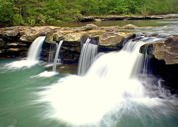 Waterfall Greeting Card featuring the photograph Falling Waters Falls 4 by Marty Koch