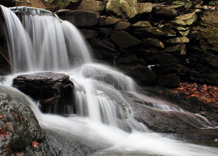 Waterfall Greeting Card featuring the photograph Falls At Melville by Andrew Pacheco