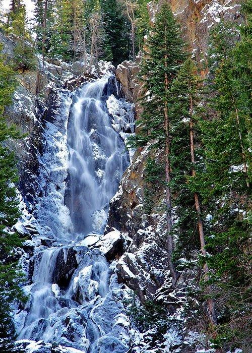 Fish Creek Falls Greeting Card featuring the photograph Falls Freezing by Matt Helm