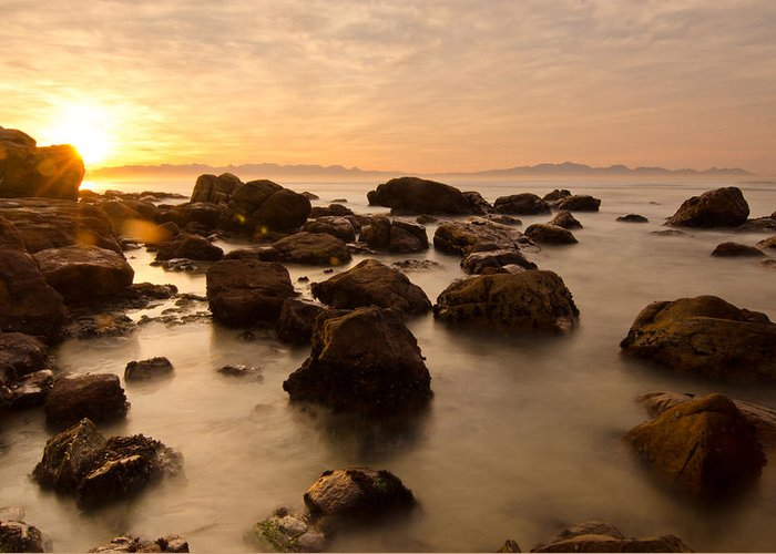 Ocean Greeting Card featuring the photograph False Bay Sunrise by Aaron Bedell